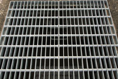 Steel grating Stock Image