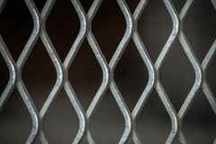 Steel grating for background and texture Royalty Free Stock Photography