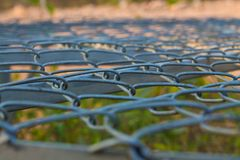 Steel grating  backgrounds royalty free stock images