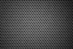 Steel grating black background texture Stock Image