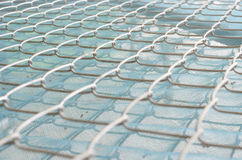 Steel grating. For protection against insects Royalty Free Stock Photo