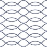 Steel Grating seamless structure vector. Steel Grating seamless structure wave shape. Chainlink isolated on white background. Vector illustration. EPS 10 Stock Photo