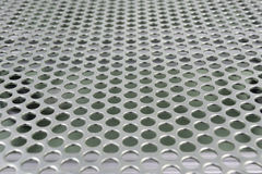Steel grating. Texture bokeh background stock illustration
