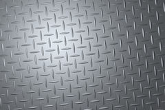 Steel gray checker plate Royalty Free Stock Photography