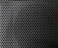 Steel gray mesh with holes Royalty Free Stock Photos