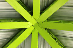 Steel Green Girders Stock Photography