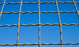 Steel grid Stock Images