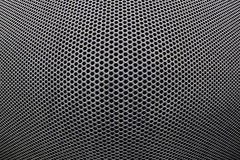 Steel grid. A close up shot of a steel grid with a spherical structure royalty free stock photography