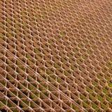 Steel grid. Floor of old steel bridge background pattern texture Stock Photo