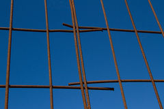 Steel grid. Royalty Free Stock Image