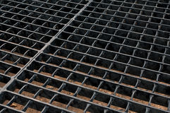 Steel grid Stock Photo