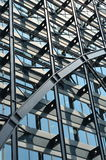 Steel grid facade Royalty Free Stock Image