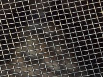 Steel grid macro close-up texture background stock image