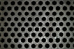 Steel Grid Pattern Stock Photography