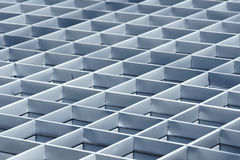 Steel grid structure stock photography