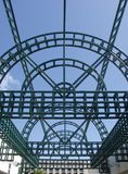 Steel Gridwork. Green Steel Canopy Stock Images