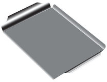 Steel Grill Pan. Steel rectangular grill pan. Vector drawing without thumbnail Royalty Free Stock Images