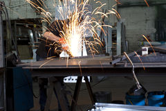Steel grinding Stock Photography