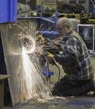Steel grinding Stock Image