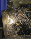 Steel grinding Royalty Free Stock Photography