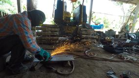 Steel grinding stock video