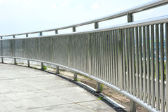 Steel Guard Rail Royalty Free Stock Photos