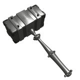 Steel hammer Royalty Free Stock Images