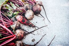 Beetroot lies on the background of a semicircle view from above stock image