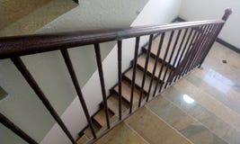 Steel hand rails stock photography