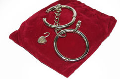 Steel handcuff Royalty Free Stock Photography