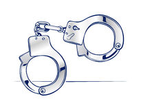 Steel handcuffs Royalty Free Stock Images
