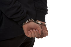 steel handcuffs Royalty Free Stock Image