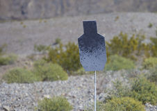 Steel handgun target Stock Photography