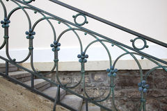Steel handrail Royalty Free Stock Image