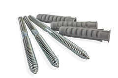 Steel hanger bolts with assist parts Stock Photos