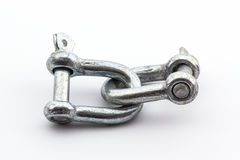 Steel hardware for fitting electrical cable. Royalty Free Stock Photo