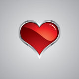 Steel heart Royalty Free Stock Image