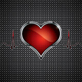 Steel heart Royalty Free Stock Photography