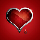 Steel heart Royalty Free Stock Images