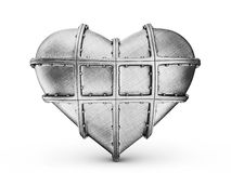 Steel heart Royalty Free Stock Photos