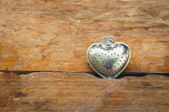 Steel Heart shape for valentine Royalty Free Stock Photography