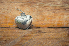Steel Heart shape for valentine Stock Image