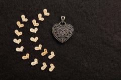 Steel heart Stock Photography