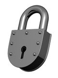 Steel heavy lock Royalty Free Stock Photo