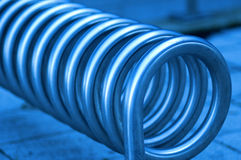 Steel helix Royalty Free Stock Photography