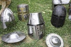 Steel helmets Royalty Free Stock Image