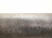 Steel hilt. Shiny diamond-shaped metal texture with gleam Royalty Free Stock Photography