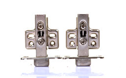 Steel hinges Stock Photography