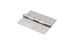 Steel hinges Stock Photo
