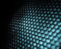 Steel honeycomb. Sing a honeycomb against white background Stock Images